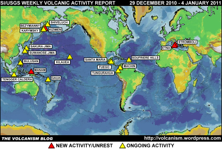 SI/USGS Weekly Volcanic Activity Report 29 December 2010 - 4 January 2011