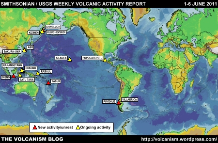 SI/USGS Weekly Volcanic Activity Report 1-6 June 2011