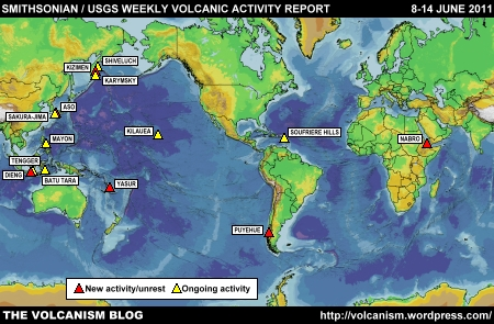 SI/USGS Weekly Volcanic Activity Report 8-14 June 2011