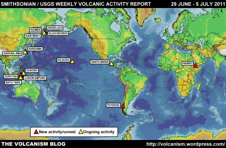 SI/USGS Weekly Volcanic Activity Report 22-28 June 2011